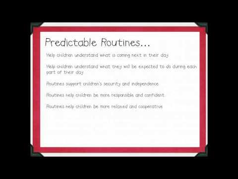 Cl Room Routines In Preschool