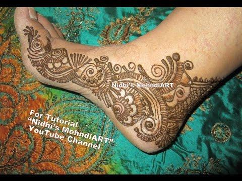 Leg Mehndi Designs Step By Step : Easy diy arabic henna mehndi design for side leg feet tutorial youtube
