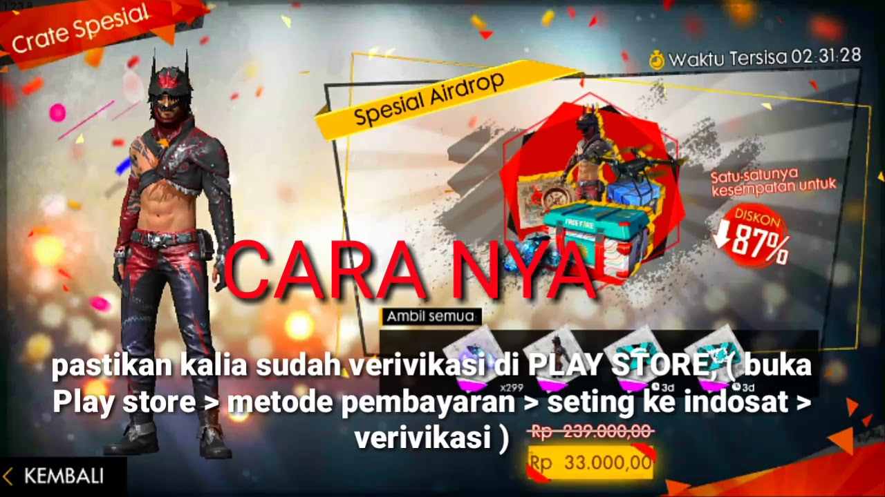 Cara Top Up Free Fire Pake Pulsa Indosat By Rabbit Z