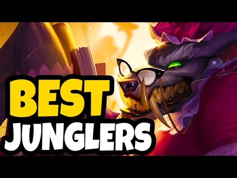 TOP 5 BEST JUNGLERS FOR WINNING SOLO QUEUE - Patch 7.8 League of Legends