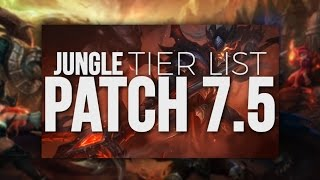 Tarzaned | Rank 1 Jungle Tier List - Patch 7.5/7.6