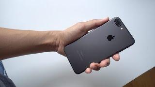 IPhone 7 plus matte black 128 gb unboxing