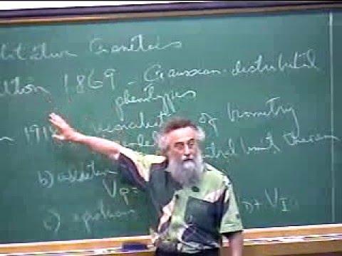 """Michael Turelli at IMPA in 2003: """"Fun with evolutionary quantitative genetics"""""""