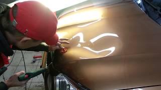 Как быстро убрать большую вмятину без покраски в Архангельске(1-й этап удаления больших вмятин - работа клеевой системой: грибки различной конфигурации, термопистолет,..., 2015-01-29T23:54:23.000Z)