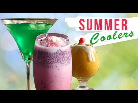 8 Best Summer Coolers | Quick Easy Cold Drinks | Homemade Refreshing Summer Drinks | Ruchkar Mejwani