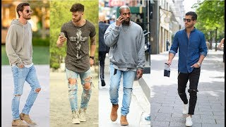 Ripped Jeans Outfit Ideas For Men/2018 Ripped Jeans Ideas