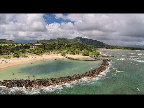 Aerial Hawaii: Lydgate State Park (October 2014)