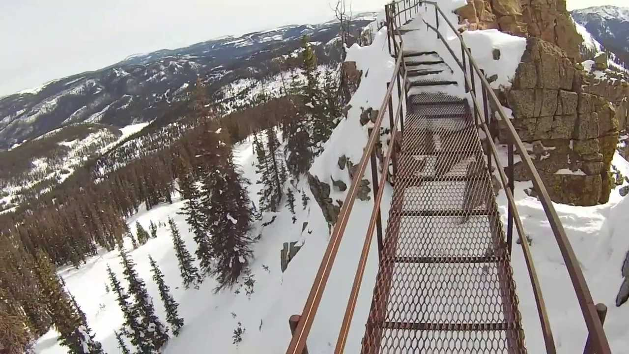 wolf creek ski area horseshoe bowl gopro hero 3 white edition - youtube