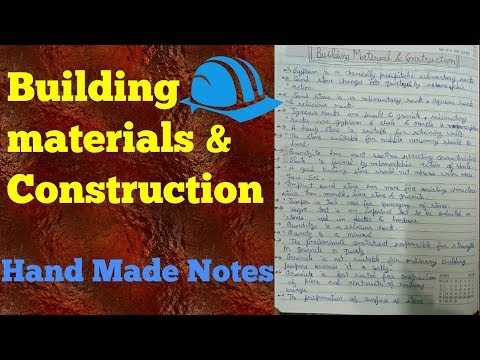Building materials and construction   Handwritten notes