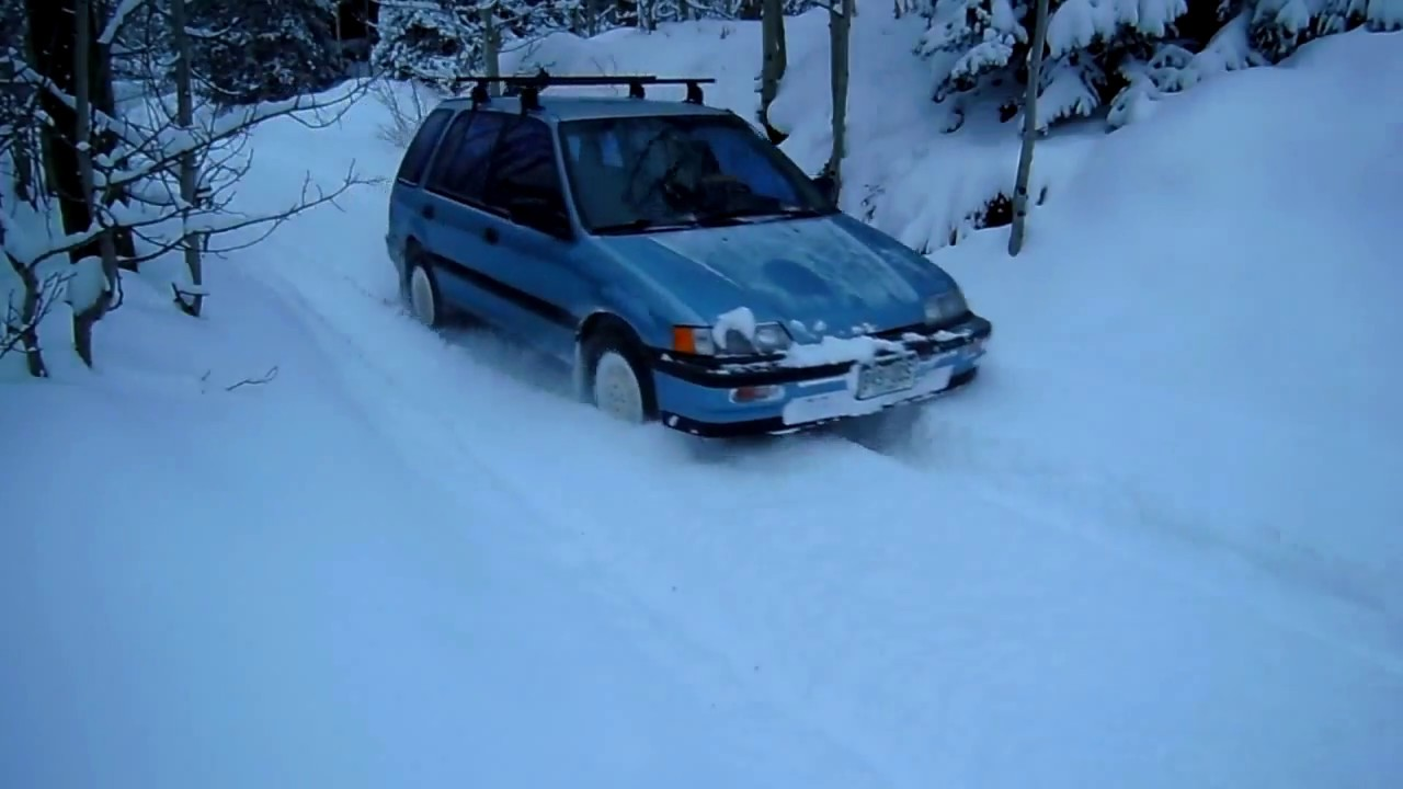 small resolution of honda civic rt4wd 8 snow leaving driveway stuck for 45sec