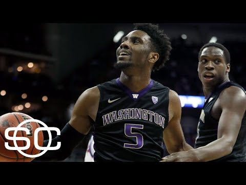 Washington coach Mike Hopkins on his team's shocking upset win over Kansas | SportsCenter | ESPN