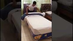 Duvet bed  making