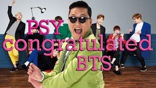 PSY AND BTS INTERACTION (BILLBOARD MUSIC AWARDS NOMINATION)