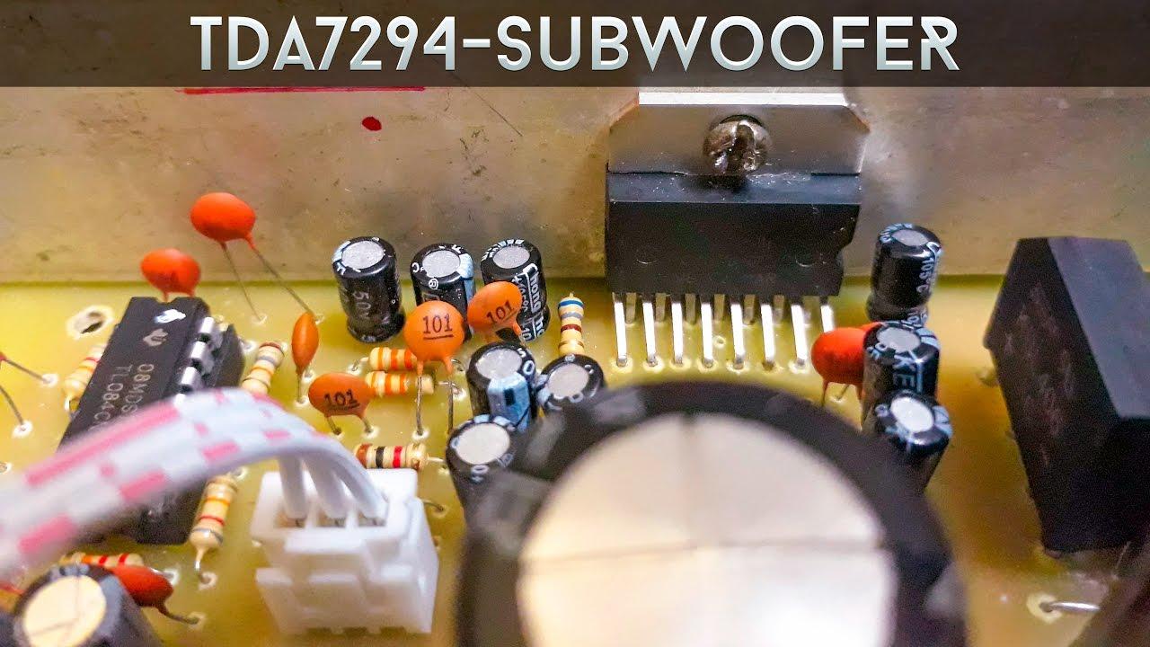 hight resolution of tda7294 subwoofer amplifier