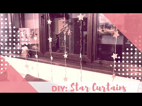 Home Decor DIY: Star Curtains