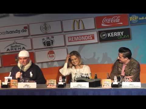 Ole Party Sommer 2013. PK mit Andreas Gabalier Linda Hesse DJ Ötzi Norman Langen