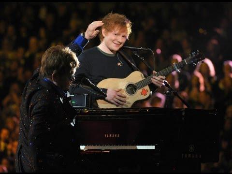 Ed Sheeran & Elton John Grammys 2013 Performance -- 'The A-Team'!