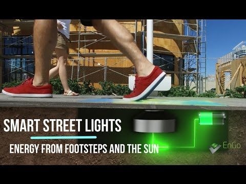 Las Vegas' New 'Kinetic Tiles' Power Streetlights With Foot Power