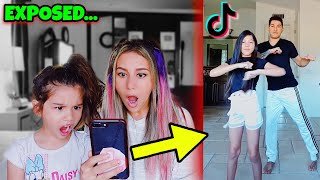 5 YEAR OLD REACTS TO DAD'S TIK TOKS!! **EXPOSED** | Familia Diamond