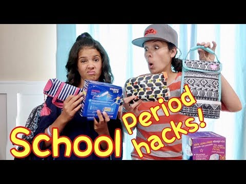 BACK TO SCHOOL PERIOD KITS! | 15 HACKS TO SURVIVE YOUR PERIOD AT SCHOOL!