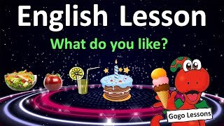 English Lesson 11 - What do you like? Food vocabulary.