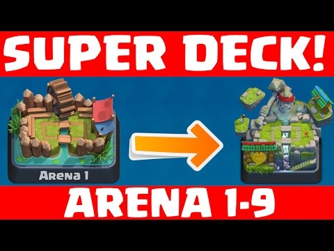 SUPER DECK ARENA 1 - 9! || CLASH ROYALE || Let's Play Clash