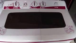 Godrej 6.2kg Semi-Automatic Washing Machine review (6.2 Kg, White and red)
