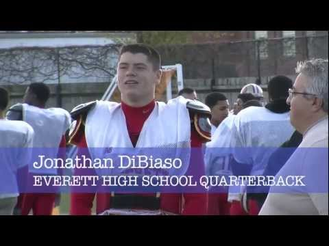 Jonathan DiBiaso, Everett High quarterback, talks about breaking td passes record