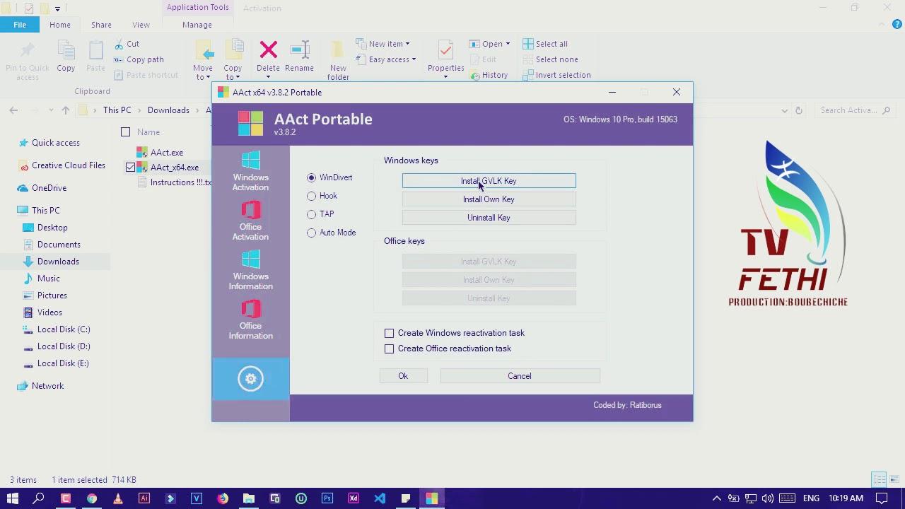 تفعيل ويندوز 10 مدى الحياة 2019 Activer Windows 10 à vie