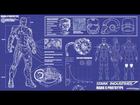 Elegant Iron Man Armor Blueprint 01