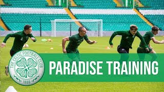 🦇🍀 Europa League   The Bhoys train at Paradise before Valencia test
