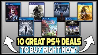 10 AWESOME NEW PS4 GAME DEALS RIGHT NOW!
