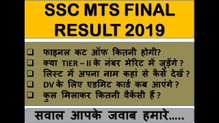 MTS RESULT 2019 , ALL YOUR DOUBTS REGARDING CUT OFF, DV, MARKS, FINAL CUT OFF, VACANCY, MUST WATCH!!