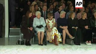 At 91, Queen Elizabeth II attends first Fashion Week show