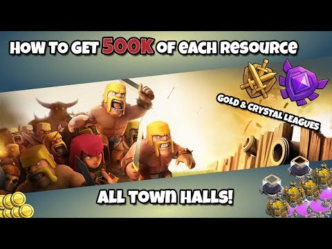 HOW TO GET 500K OF EACH RESOURCE (Clash of Clans Tutorial) ALL TOWN HALL LEVELS! FARM STRATEGIES!
