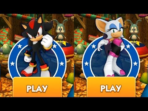 Sonic Dash Battle - SHADOW VS ROUGE