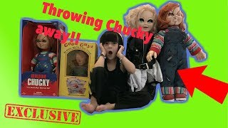 Medina Decides to THROW all her Chucky and Tiffany Dolls away!