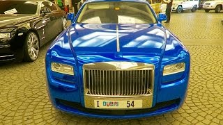 Dubai's Most Luxurious Car ! Chrome Blue Rolls Royce !