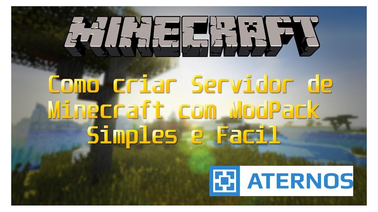 Como Criar Servidor de Minecraft com Modpack no Aternos ...