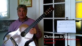 improvisation on classical guitar, lesson 2 (christiaan de jong)