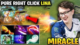 Miracle Lina PURE RIGHT CLICK Battle vs Limmp Monkey King