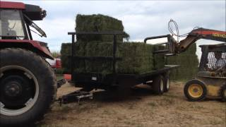 Unloading Hay Bales @ Double EE Farms
