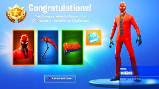 The New INFERNO PACK REWARDS in Fortnite..