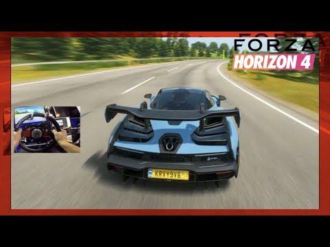 Forza Horizon 4 - DON'T BRAKE CHALLENGE... But Different (Fanatec Wheel) | SLAPTrain thumbnail