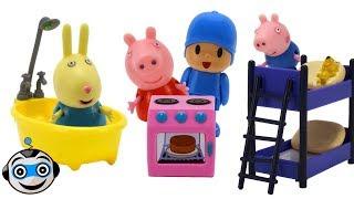 Peppa y sus amigos juegan al escondite