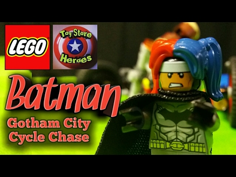 Lego Batman Gotham City Cycle Chase Review and Time Lapse Build!