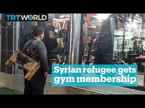 Syrian refugee gets free lifetime gym membership