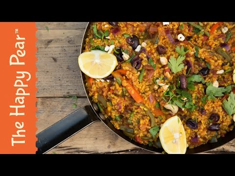 How to make Spanish Roasted Vegetable Paella – The Happy Pear Recipe