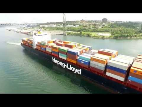 DJI Phantom 3 Aerial Video - SEOUL EXPRESS Inbound into Port of Halifax (July 12, 2016)
