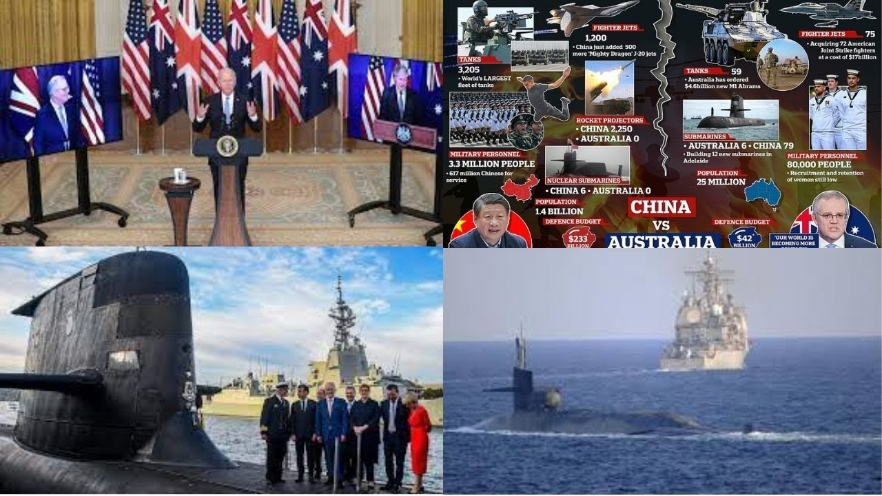 UK, US to help Aus build its 1st nuclear submarine amid China tensions